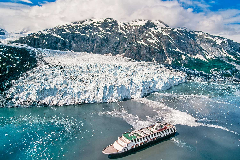 Aerial photo of Glacier Bay National Park, Alaska