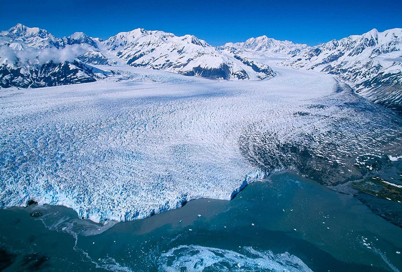 Aerial photo of Hubbard Glacier, Alaska