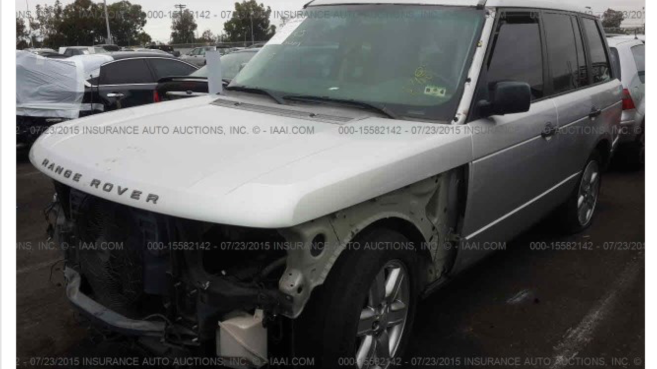 Parting out Range Rover