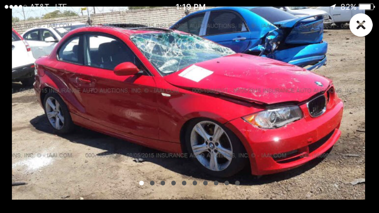 Parting out 2009 BMW 128