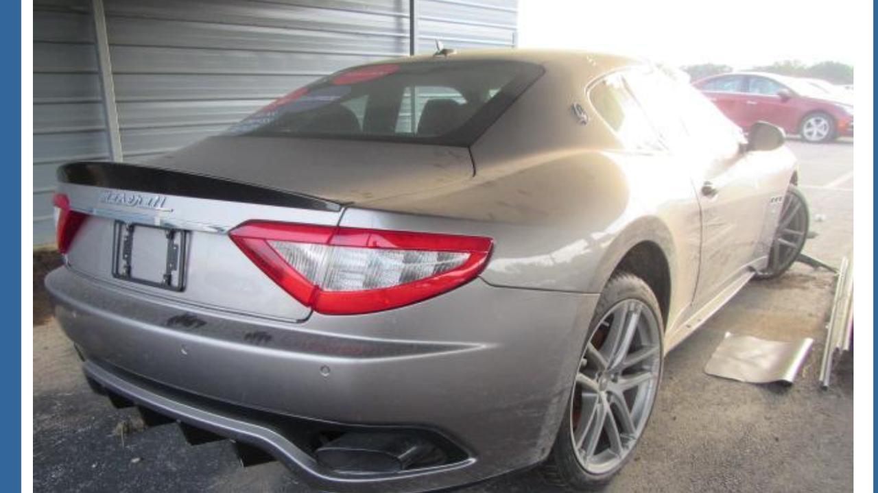 Parting out 2012 Maserati Granturismo S, possible fixer