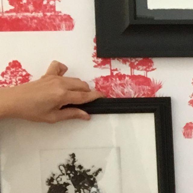 Installation! So excited for our next show together #viridisartcollective #artistsoninstagram #womenwhorock #artexhibition #artcollector #interiordesign #palmbeachart #modernlove