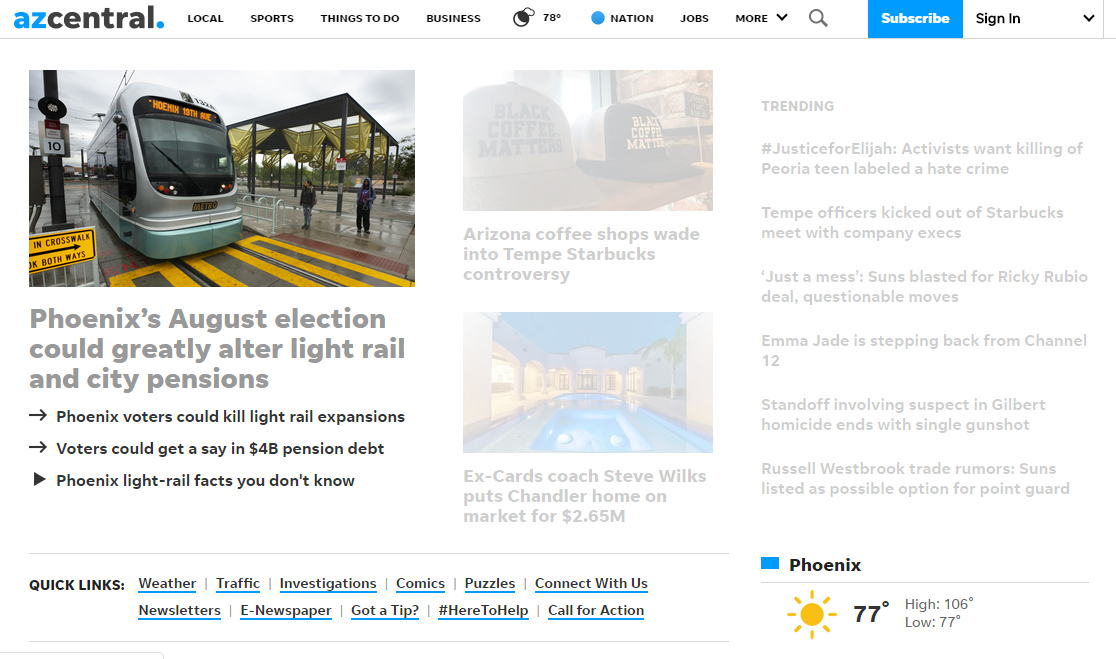 July 9, 2019 - web front page.