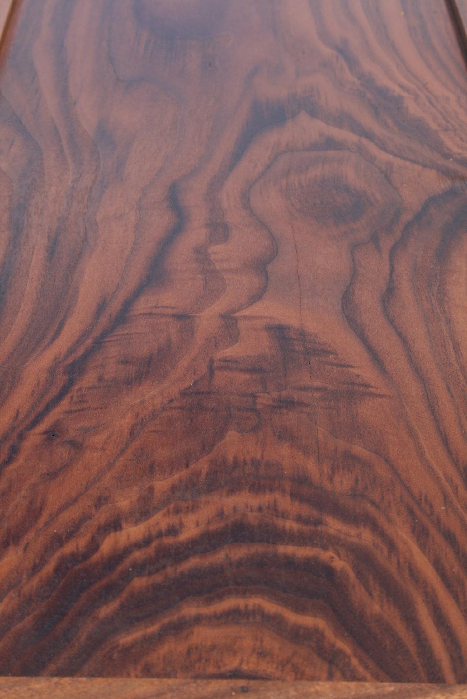 Solid walnut door panel