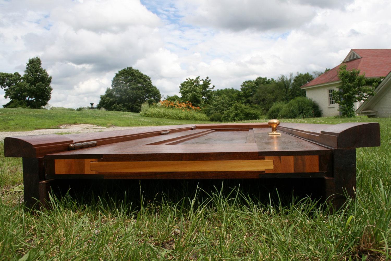 Allan Shope walnut door bottom stave core construction