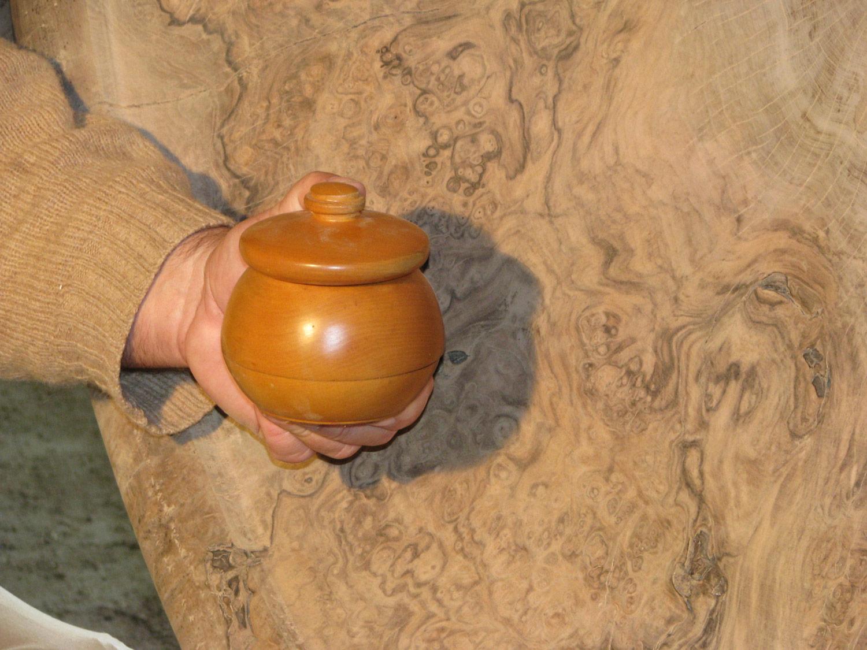 Sugar bowl turned by Allan Shope at age 11