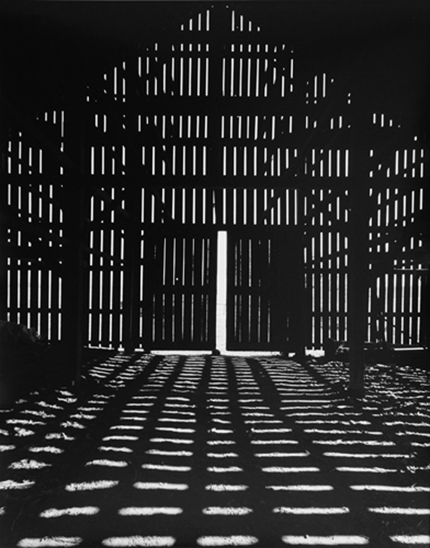 Connecticut tobacco barn interior