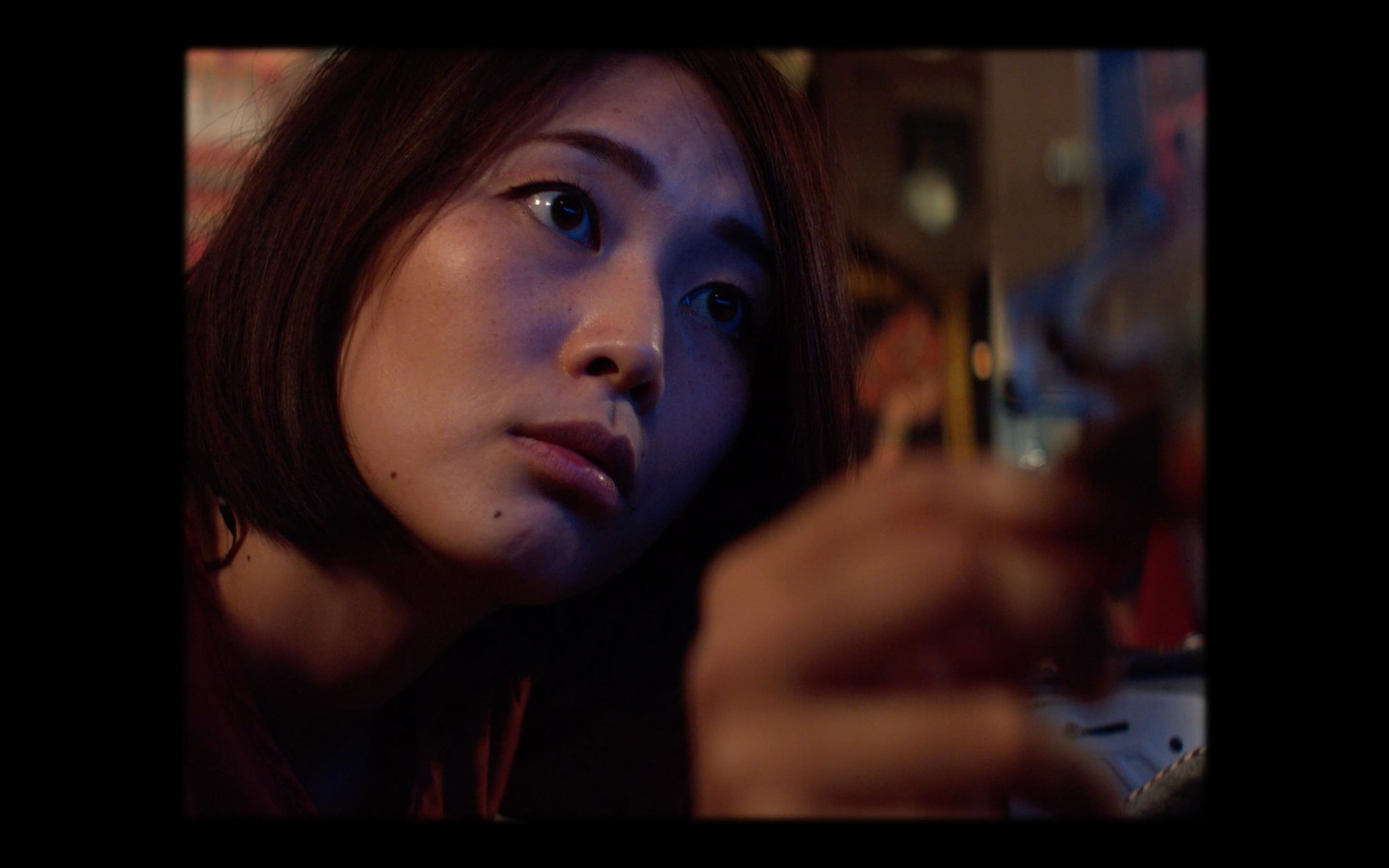 cinematography japan tokyo girl dark blue eye four third hand close up dop