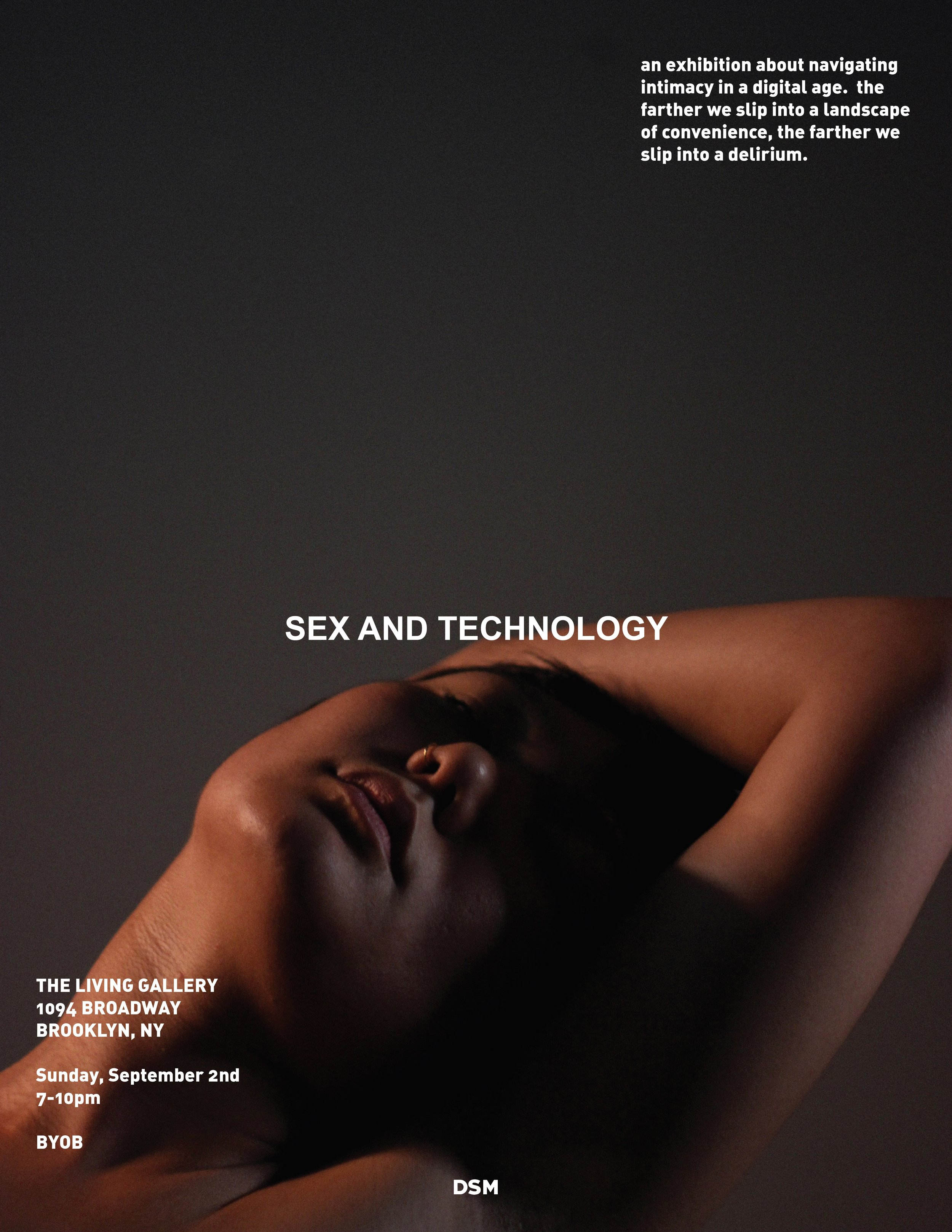 poster for dsmvisuals' sex and technology exhibition (2018)