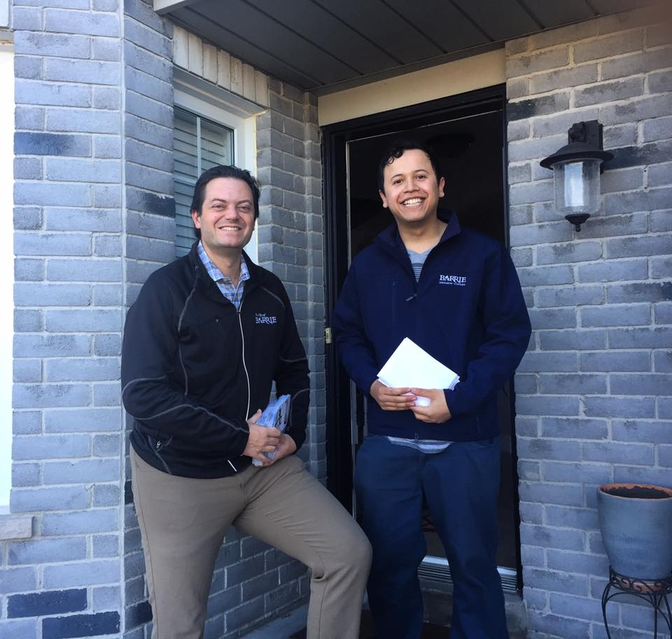 Lehman and Sergio Canvassing