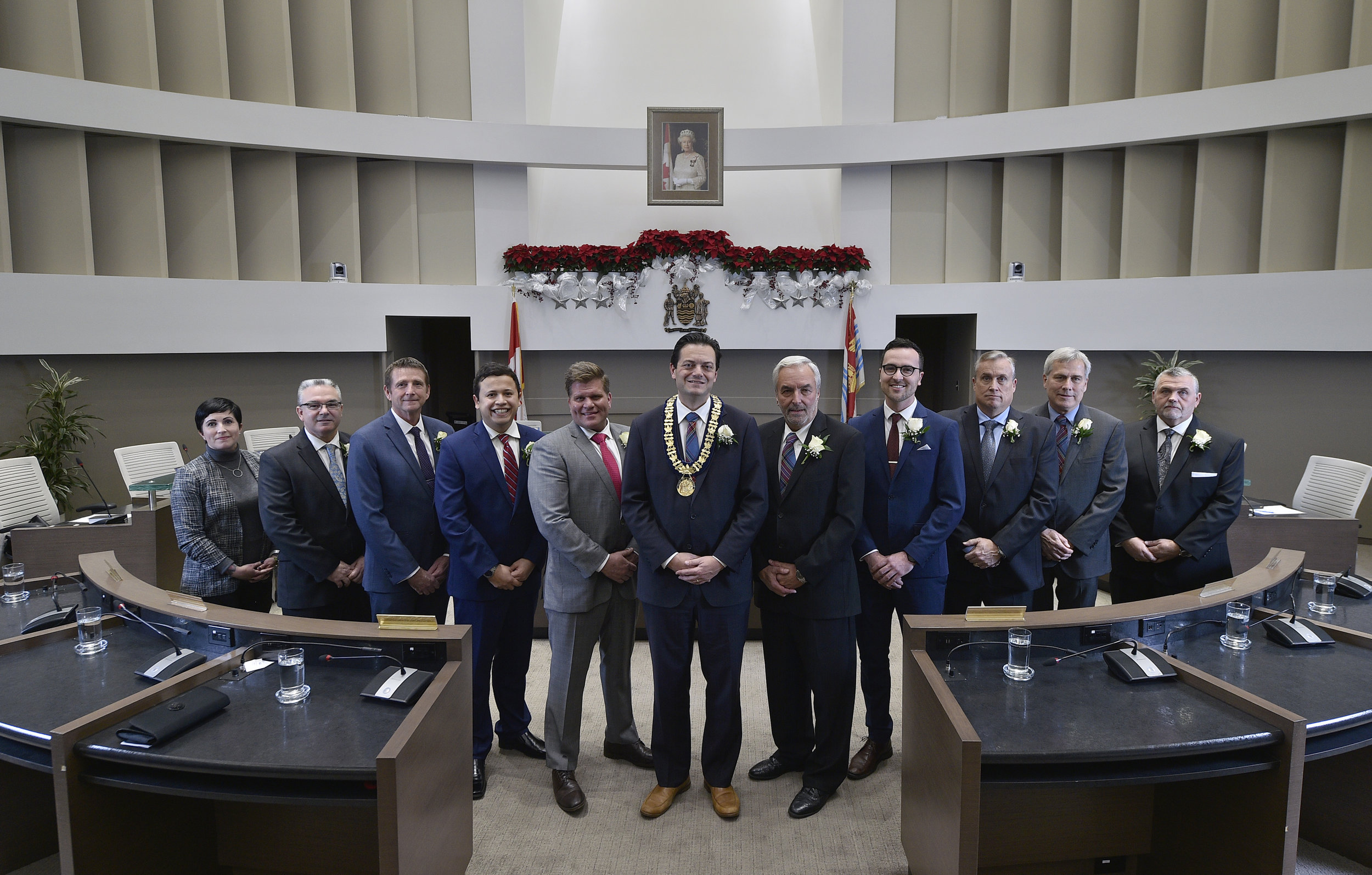 Your 2018-2022 Barrie City Council      From left to right: Ward 6 Councillor Natalie Harris, Ward 7 Councillor Gary Harvey, Ward 8 Councillor Jim Harris, Ward 9 Councillor Sergio Morales, Ward 10 Councillor Mike McCann, Mayor Jeff Lehman, Ward 1 Councillor Clare Riepma, Ward 2 Councillor Keenan Aylwin, Ward 3 Councillor Doug Shipley, Deputy Mayor and Ward 4 Councillor Barry Ward, Ward 5 Councillor Robert Thomson   .