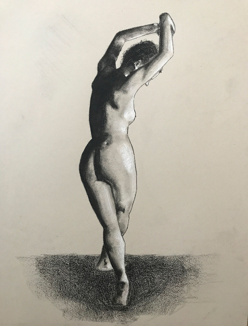 Female Nude Figure Study