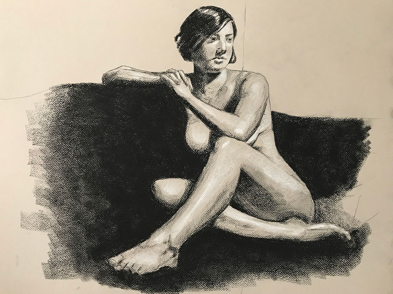Female Nude Figure Study - Final