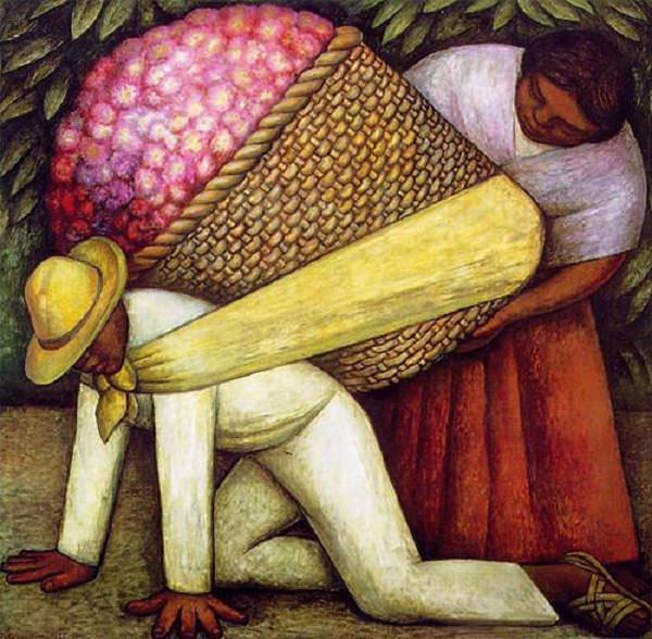 - Diego Rivera (1886-1957), The Flower Carrier, 1935, oil paint