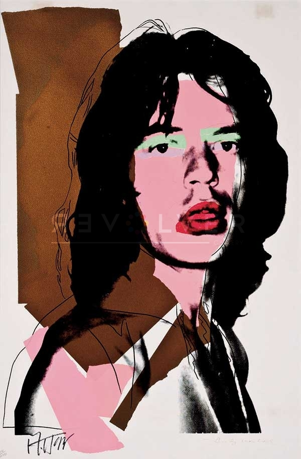 Andy Warhol, Mick Jagger, Screenprint on Arches Aquarelle Paper (F&S. II. 146)