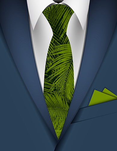 Makana Palms Hawaiian Necktie