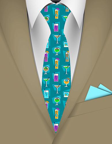 Happy Hour Hawaiian Necktie