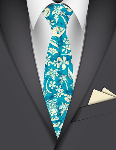 Makapuu Beach Hawaiian Necktie