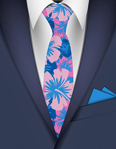 Epic Hibiscus Hawaiian Necktie