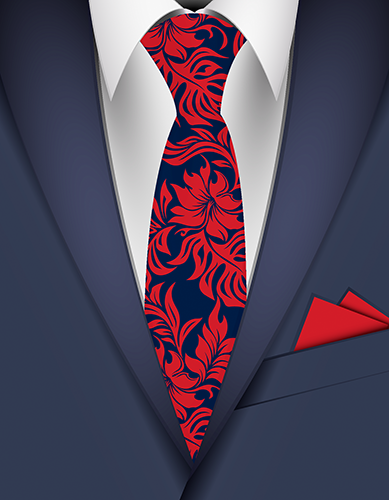 Waikiki Hibiscus Hawaiian Necktie
