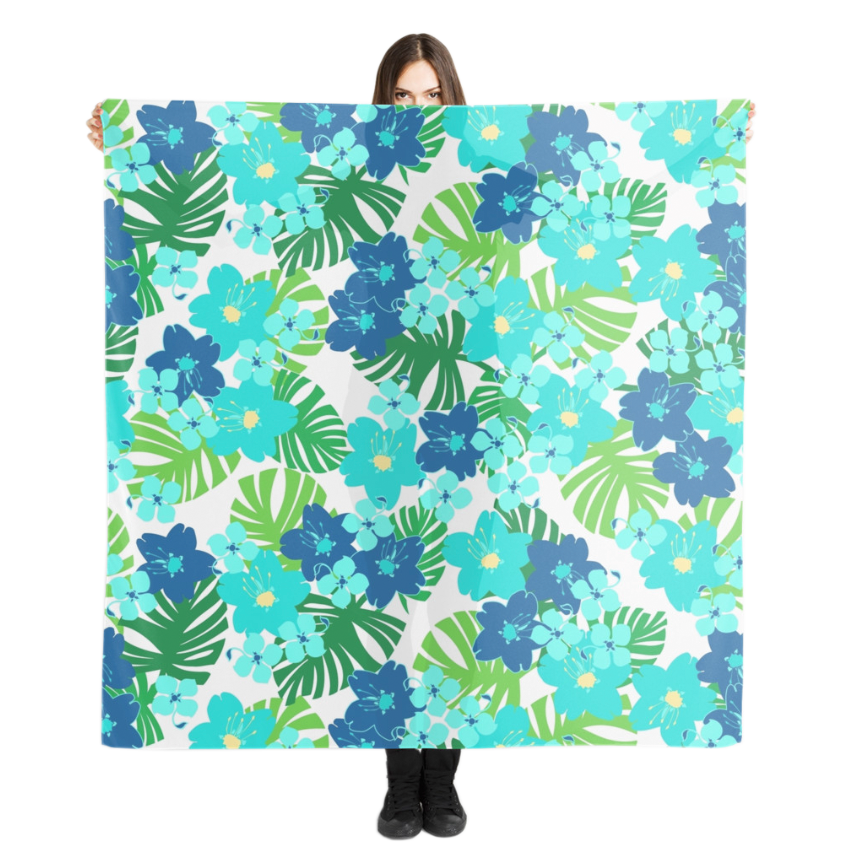 Limahuli Garden Scarf in Turquoise