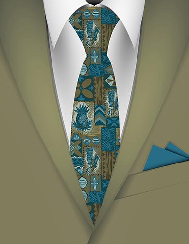 Pomaikai Tiki Hawaiian Necktie