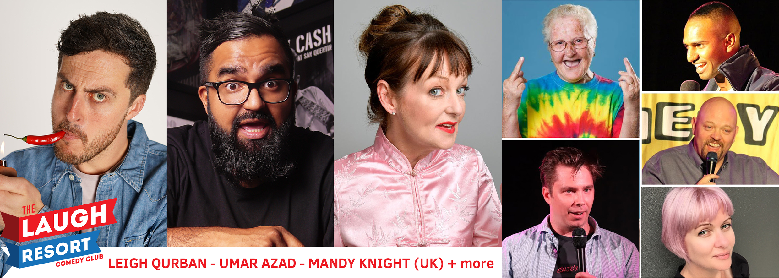 October's show is headed up by the Time Out award winning supreme queen of UK comedy, international sensation  Mandy Knight .  She'll introduce you to some of the best and brightest local and visiting Australian comedy stars on the rise: larrikin 2015 Adelaide Comedian of the Year  Leigh Qurban ; FRINGE WORLD 2019 Best Comedy WA award winner  Umar Azad ; 'Gran in a Van'  Leonie Clarke ; legal eagle  Corey White ; RAW Comedy state finalists  Millennium Marrion  and  John Pinder ; and comedy blogging modern mum  Deanna Corbett .  If you needed another reason to book (besides our 3rd-Wednesday-of-the-month-shows often selling out), every online ticket puts you in the draw to  WIN a Gage Roads Prize Pack  including $50 food+drink voucher from our host venue The Shoe.  Nab your tickets from  Eventbrite  or  Facebook . Early birds $10 (SOLD OUT) / Standard $15 / Concession $12 Door sales only if not sold out prior (from 7:30pm).  Wednesday 16 October, 8pm The Shoe Bar & Cafe, Yagan Square PERTH