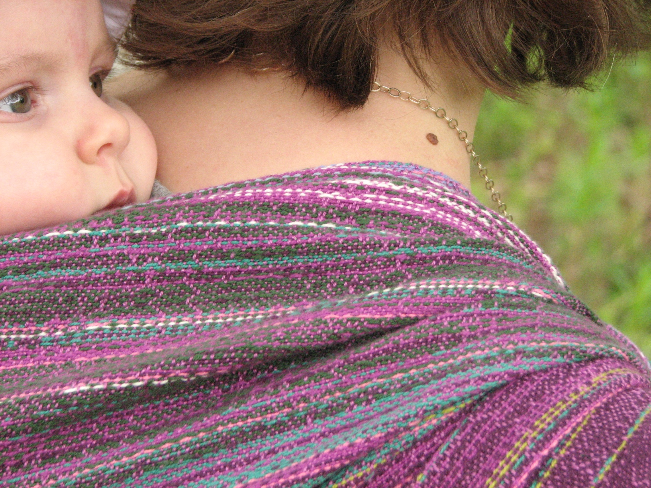 Field of Dreams a handwoven baby wrap inspired by Alaskan fireweed | 14 Mile Farm