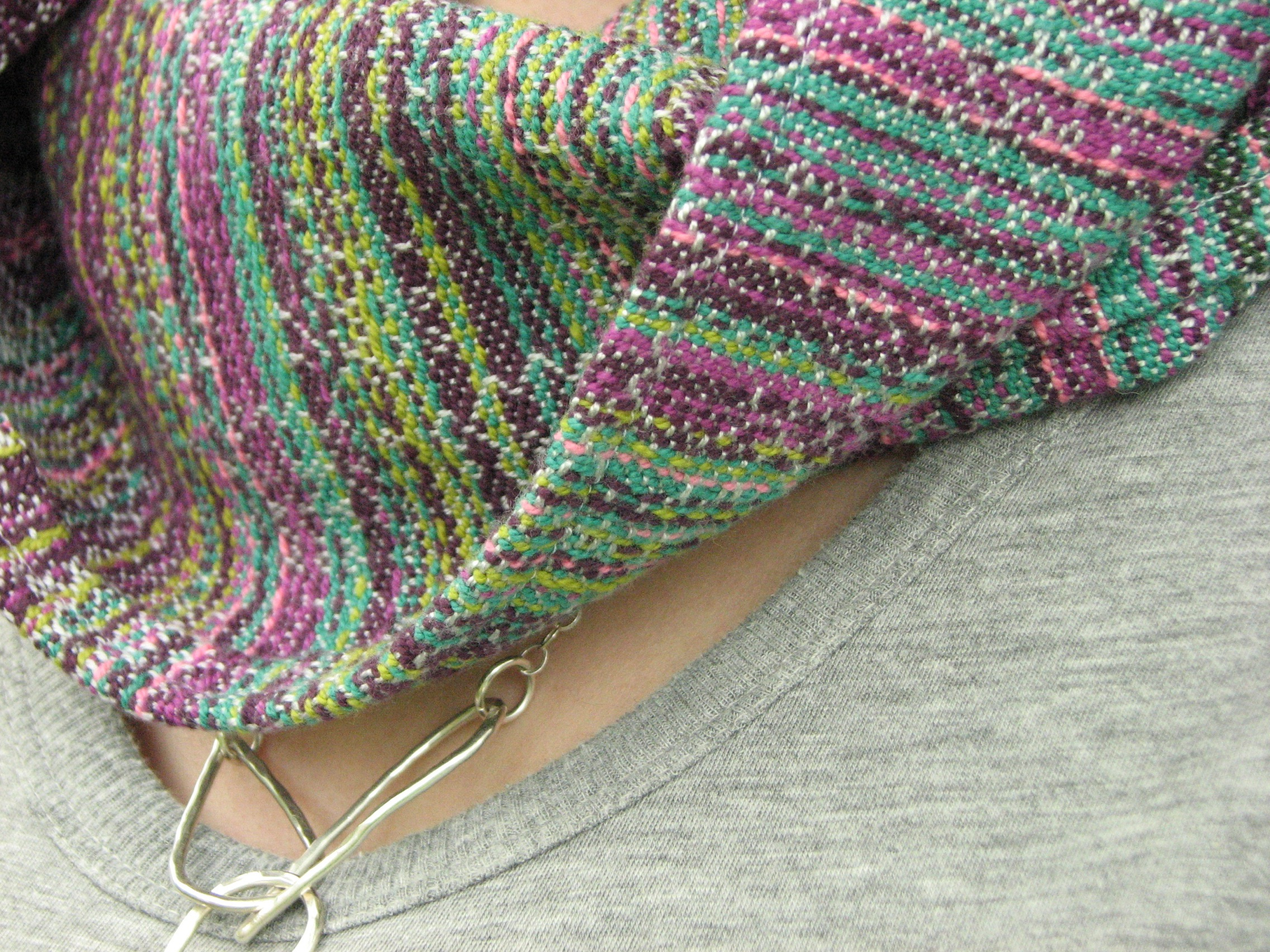 Field of Dreams, a handwoven cowl scarf inspired by Alaskan fireweed | 14 Mile Farm