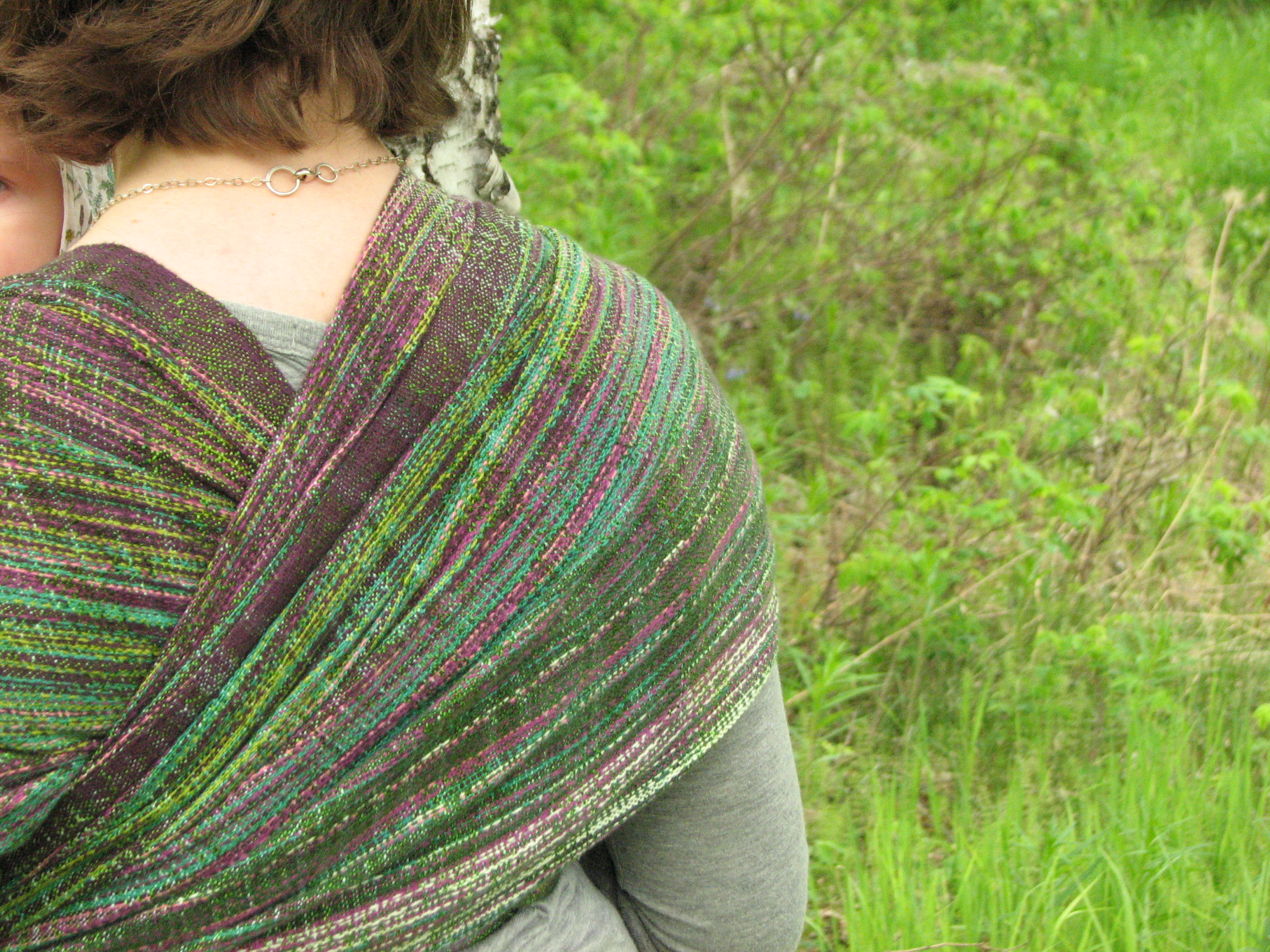 Field of Dreams, a handwoven baby wrap inspired by Alaskan fireweed | 14 Mile Farm