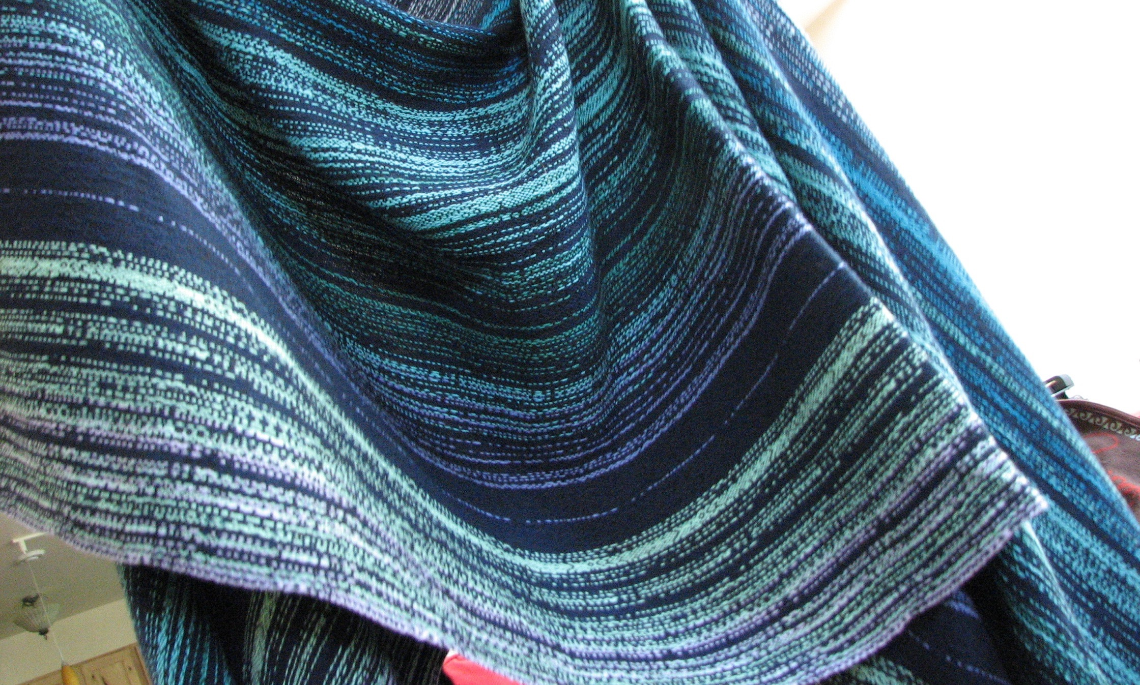 Fire in the Sky - a handwoven baby wrap inspired by the aurora borealis | 14 Mile Farm Handweaving and Homesteading in Alaska