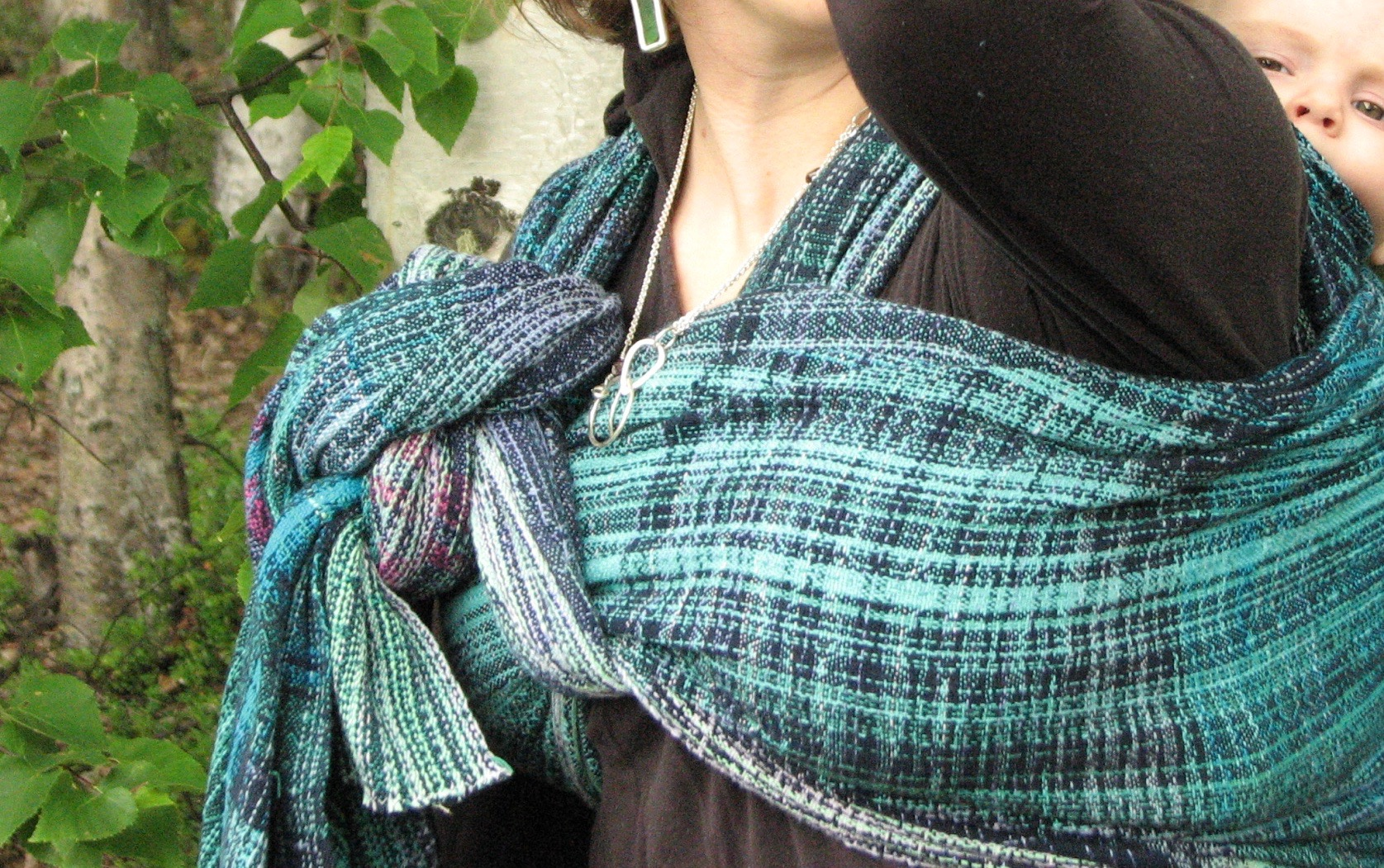 Fire in the Sky, a handwoven baby wrap inspired by the aurora borealis | 14 Mile Farm Handweaving and Homesteading in Alaska