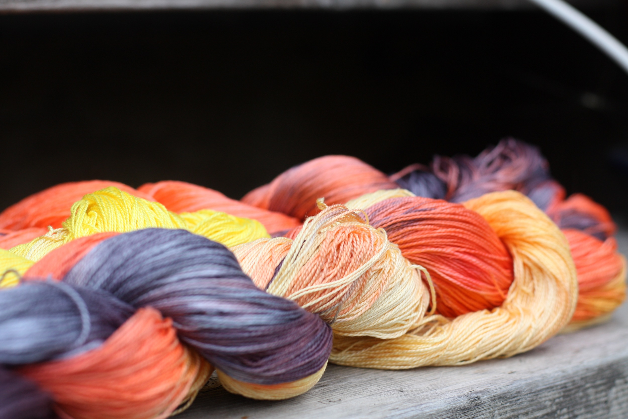 Hand dyed yarn by 14 Mile Farm : Handweaving and Homesteading in Alaska