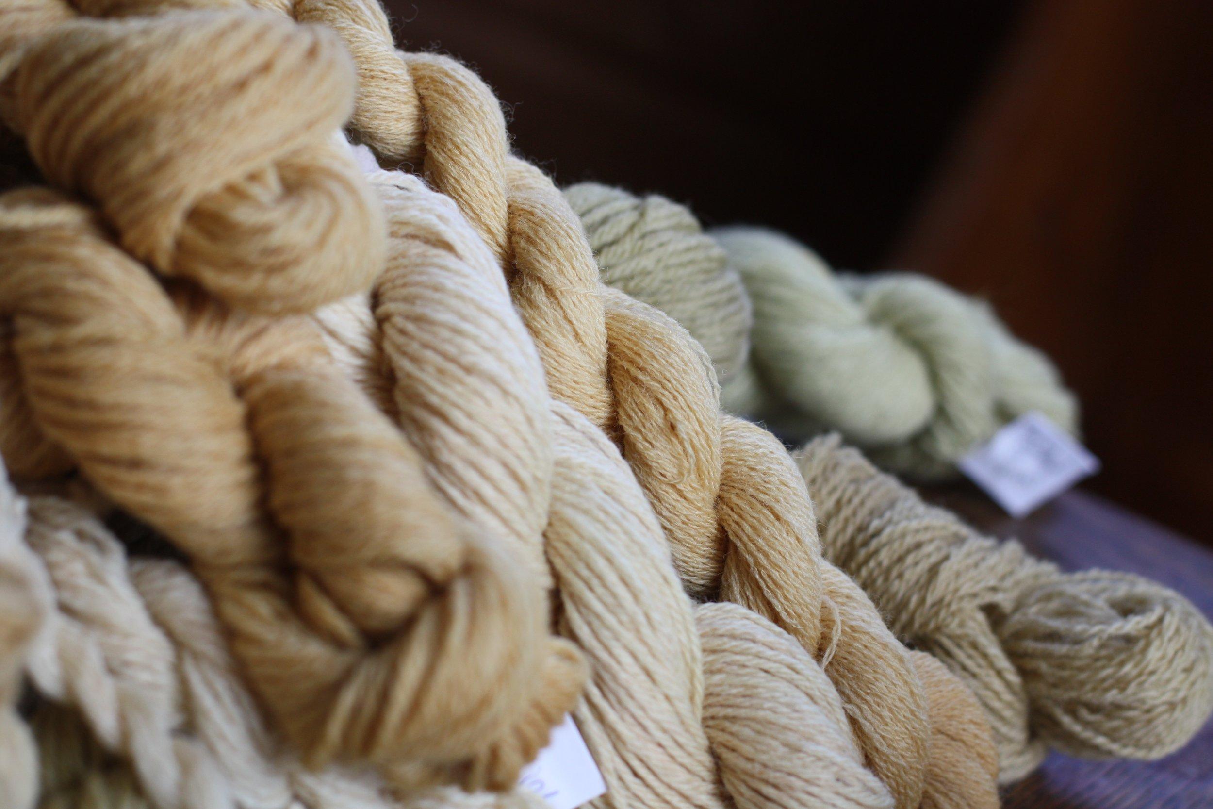 Wool dyed with chokecherry, rosehip, alder, yarrow and walnut | 14 Mile Farm Handweaving and Homesteading in Alaska