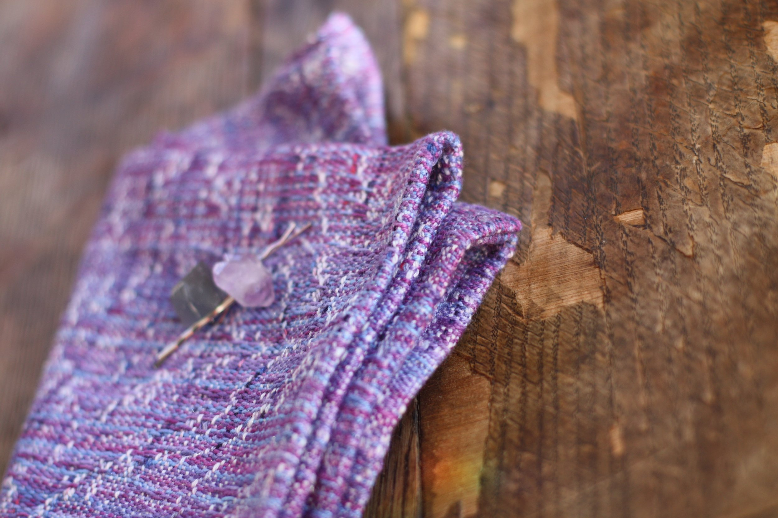 Handwoven neckwear from the Sugar Plum Fairy warp | 14 Mile Farm Handweaving and Homesteading in Alaska