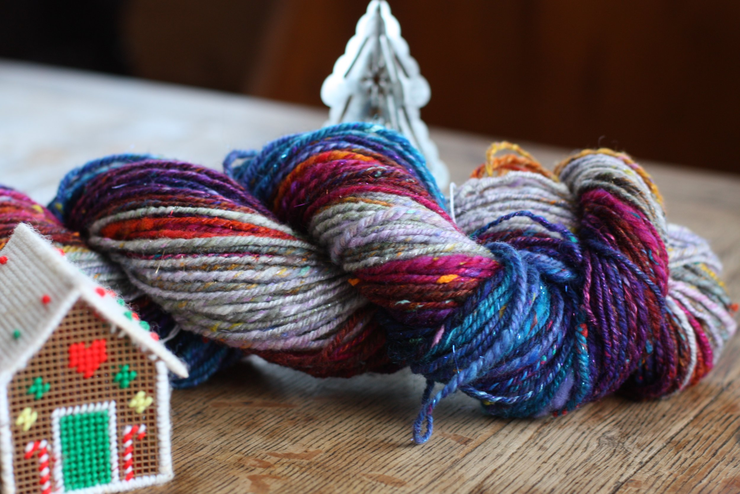 Santa's Village Spinalong from Inglenook Fibers