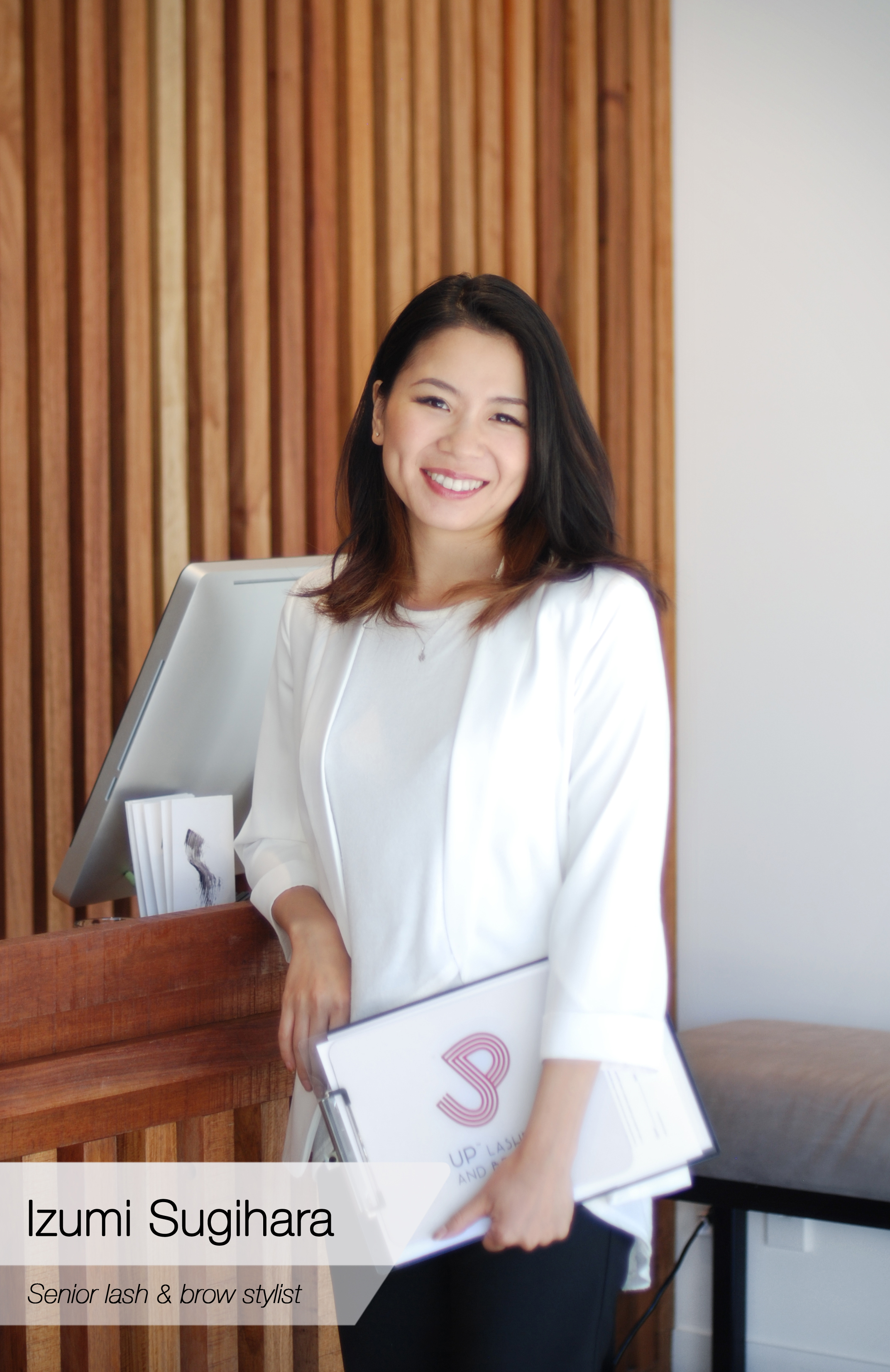 Senior stylist: Izumi Sugihara  Izumi joined UP with 10 years lash and brow experience in Japan, Canada and Australia. Her unique design skills and international experience extend the high standard of quality expected at UP Lashes and Brows.