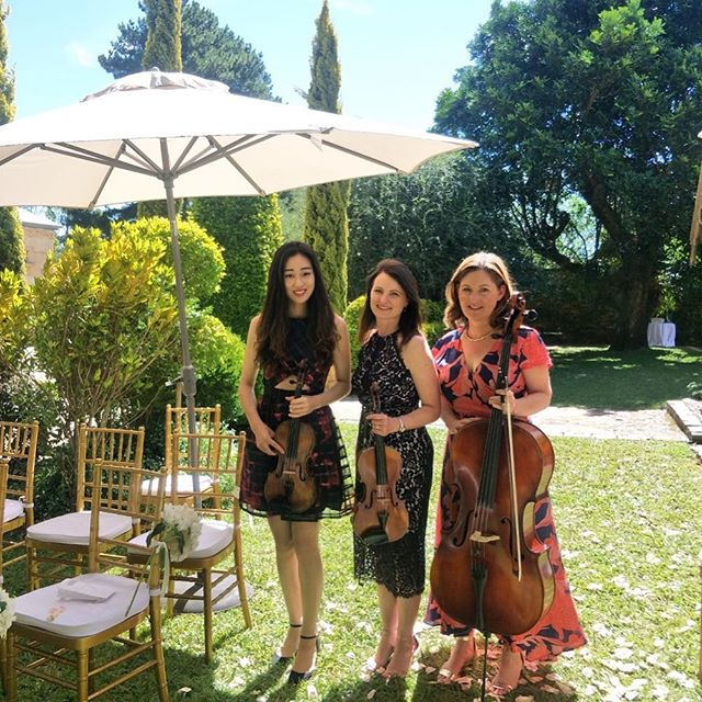 our beautiful musicians ready to play at @deuxbelettes today for Kerrie and Peter's gorgeous wedding.. we feel so honoured to have been part of such a stunning event! 💕❤️🎻@kerriehessillustration @theweddingseries_au @yenachoiviolin