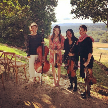 Some of our beautiful musicians playing at Asal and Sean's dreamy wedding at  @theearthhouse last weekend.. one of our favourite venues and beautiful weather to match!