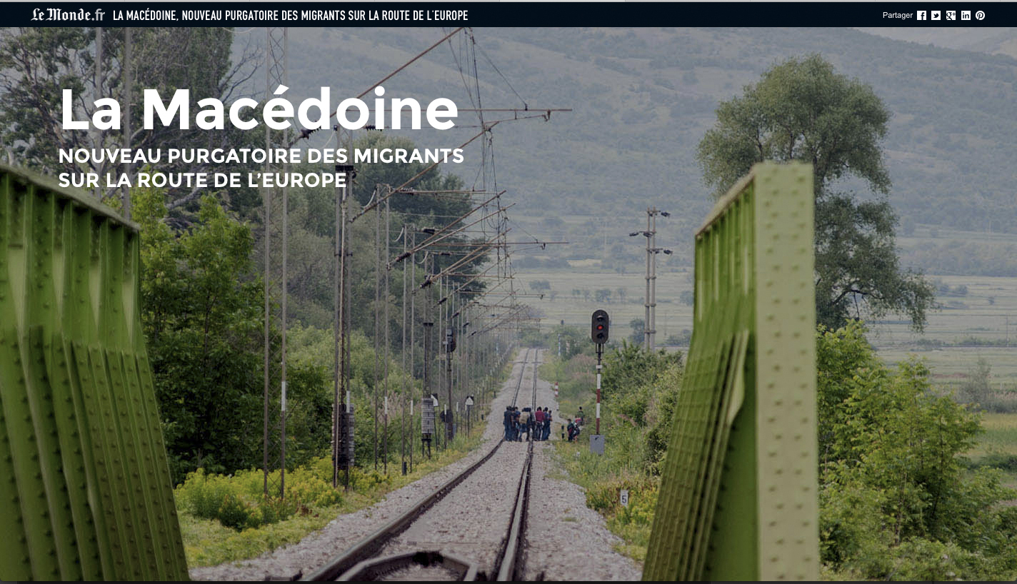 Le Monde_Refugees_Macedonia