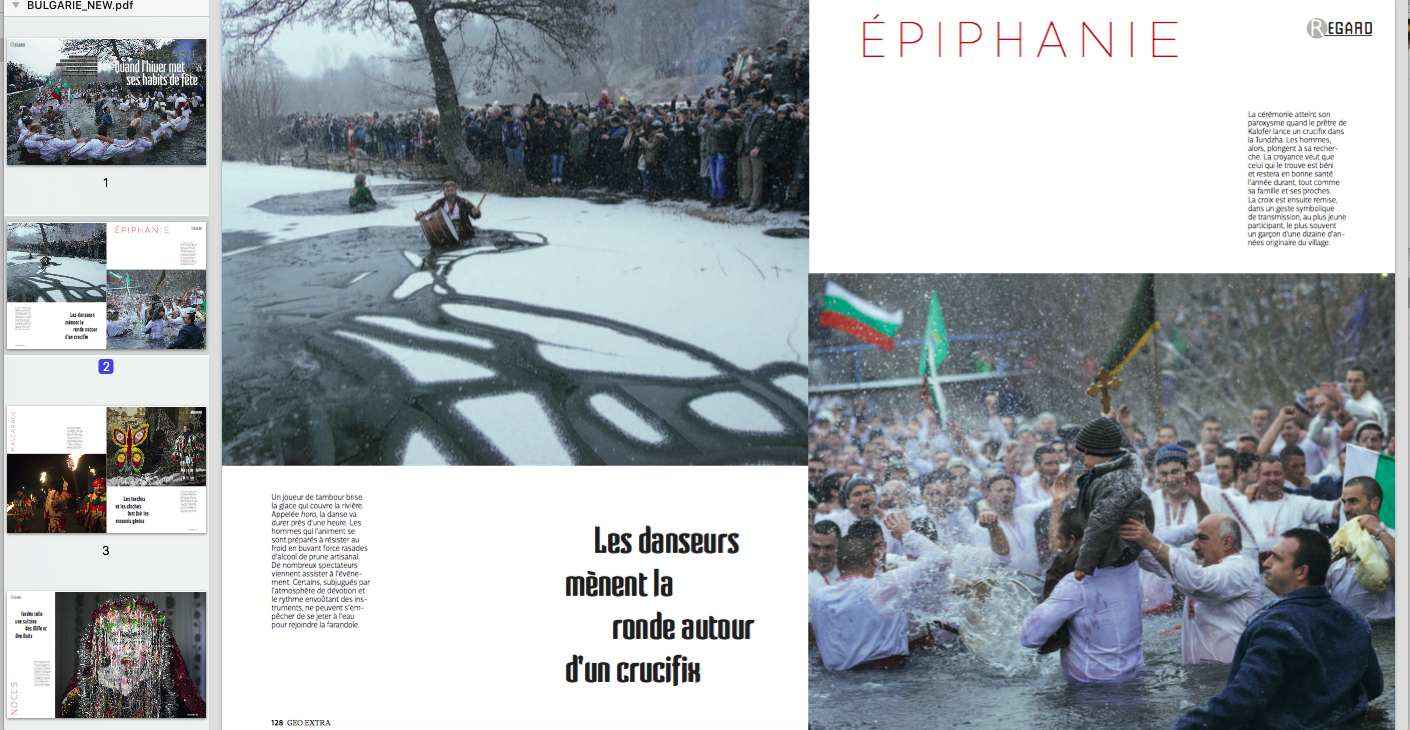"Geo France features ""Winter traditions in Bulgaria"""