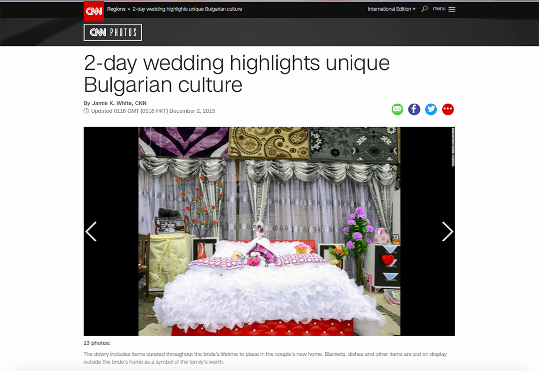 CNN Photos Features Unique Wedding held in the village of Ribnovo, Bulgaria