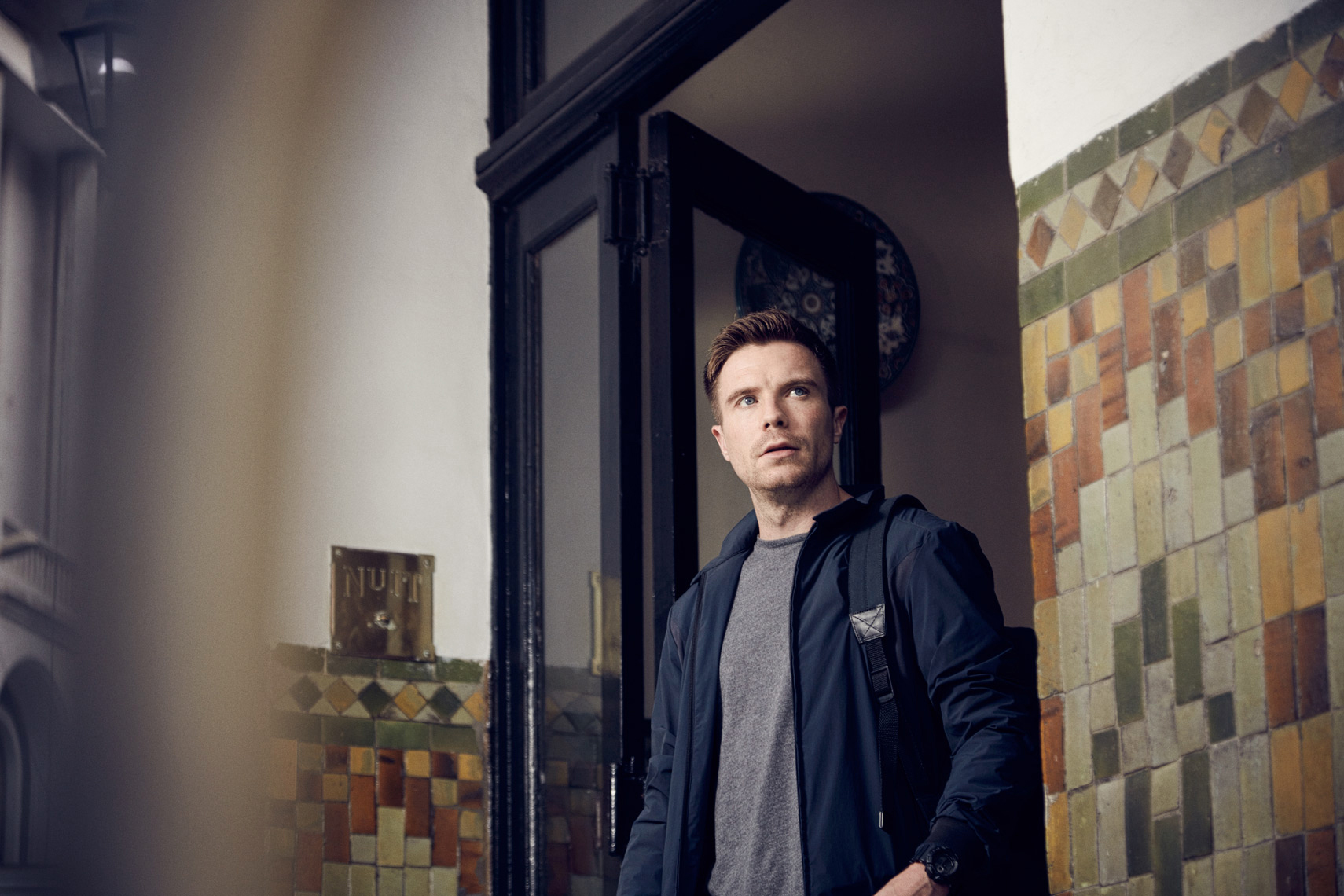 "Joe Dempsie as Harry Clarke for the FOX TV Series ""Deep State"". Photo by Jay Brooks."