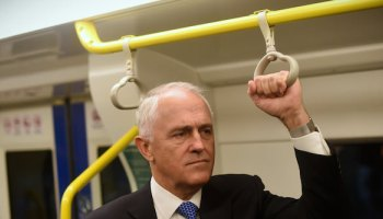 PM Malcolm, just casually mulling over his next big speech while on the train.