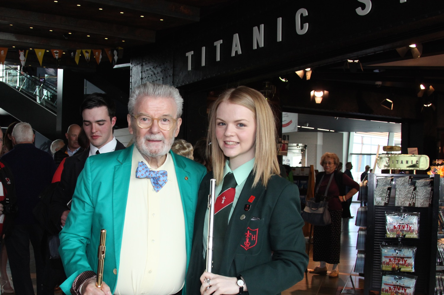 Sir James Galway with Jannah Bell   Photo: soundfocus.co.uk