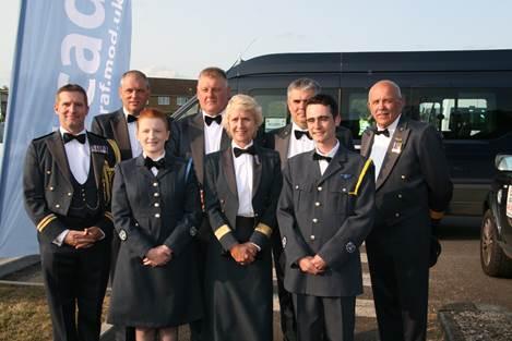ATC Gala Dinner group including Wing Commander Michael Miskimmin