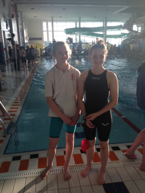 Madelyn Calvert and Katie McGonigle at the Minor Schools' Championships.JPG