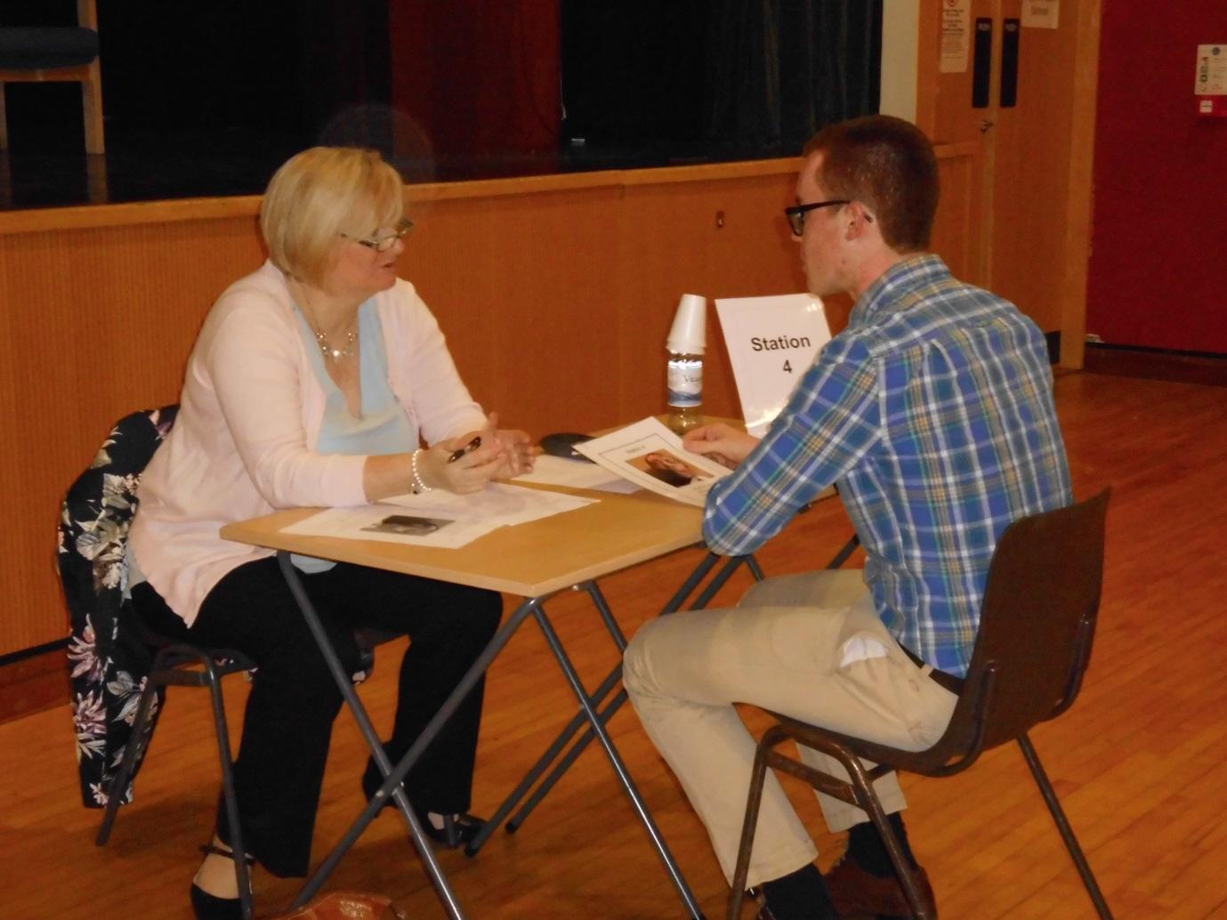 Mrs Karen Simpson (Matron) questioning Marc Lyons.