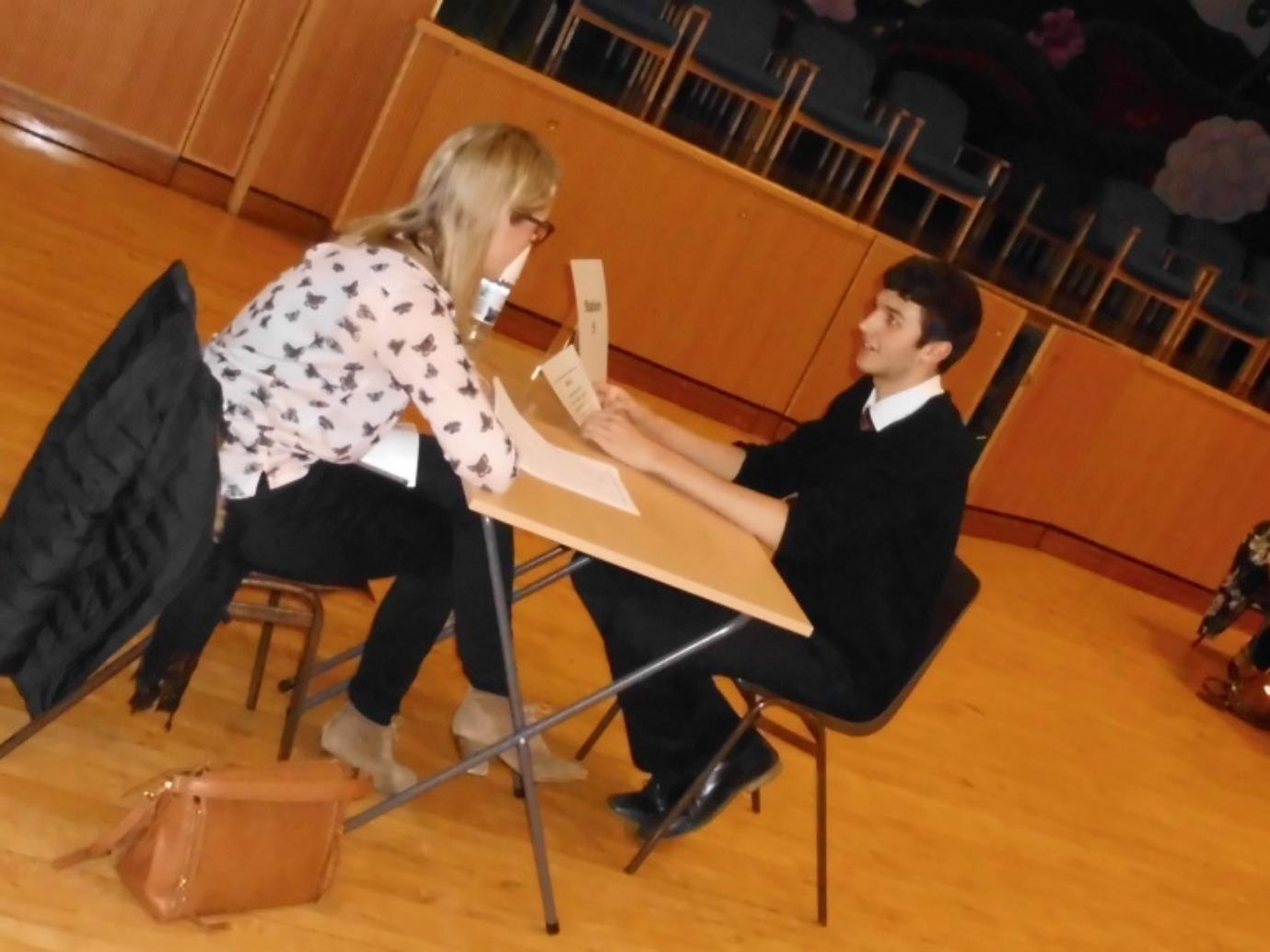 Dr Moffat (past pupil) assessing Ben Forrest
