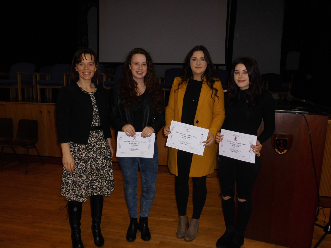 Winning team of Alexa Little, Eden Andrews and Sara Townley presented a Year 9 workshop on Body Image.